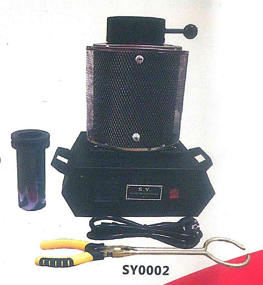 Печь тигельная для графитовый тигелей SY002 на 3 кг